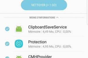 Autonomie Samsung Galaxy note 8