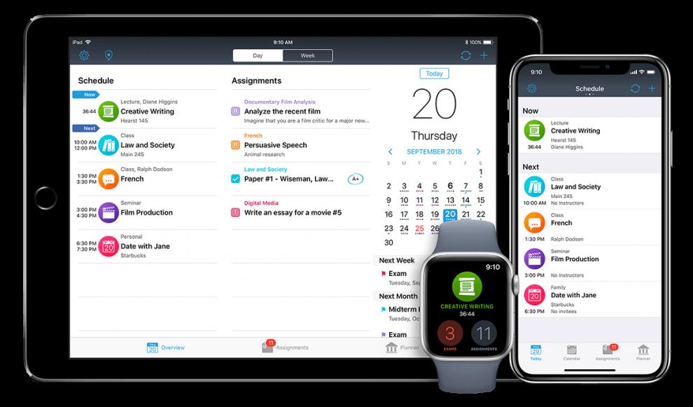 iStudiez pro pour iPhone, iPad et Apple Watch