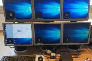 6 multi écrans NUC Intel Hades Canyon NUC8i7HVK